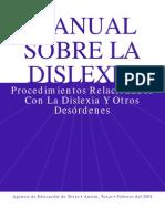 Manual Sobre La Dislexia