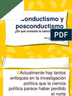 Conductismo y Posconductismo