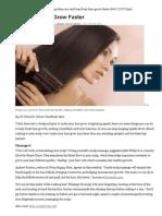 Help Yr Hair Grow Faster & What Damages Yr Hair
