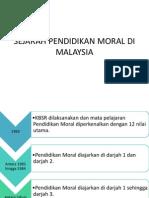 Sejarah Pendidikan Moral di Malaysia