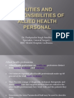 DUTIES AND RESPONSIBILITIES OF ALLIED HEALTH PERSONAL.ppt