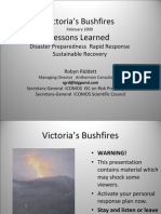 Riddett Victoria Bushfires Australia Power Point Presentation