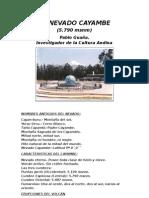 Nevado Cayambe - Su Historia