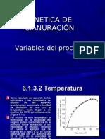 Cinetica y Variables Del Proceso de Cianuracion