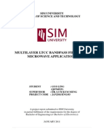 Multilayer Ltcc Bandpass Filter for Microwave Applications - Thesis