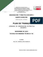 Plan de Trabajo Prof. Isaias