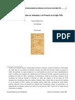 Erasmo Maria Caro - La Escuela Pesimista en Alemania y en Francia en El Siglo XIX