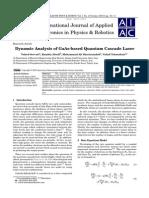 Dynamic Analysis of GaAs-based Quantum Cascade Laser