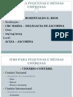 IFRS PARA PEQUENAS E MÉDIAS EMPRESAS - JACOBINA