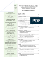 Psychotherapy Bulletin 44(3) Summer 2009