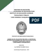 Proyecto de Innovación Tecnológica 2013-II