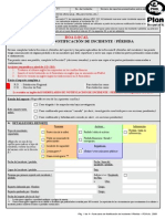 Incident Loss Notification Form - For ROA Spanish Version
