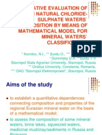 COMPARATIVE EVALUATION OF EURASIAN NATURAL CHLORIDE-SULPHATE WATERS.ppt