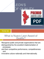 Nuevo Leon Award of Quality