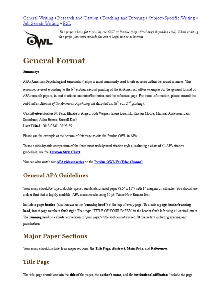 apa style references research paper