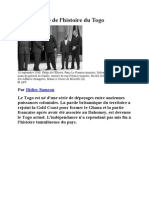 Les Dates Cles de l'Histoire Du TOGO