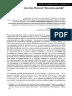 El Partido Comunista de Chile en los 20 años de democracia pactada
