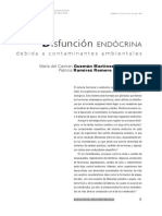 Disfunción endócrina por contaminantes