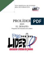 Programacion Prolider 2005