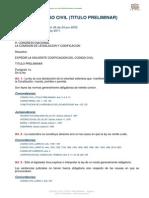 Codigo Civil (Titulo Preliminar)