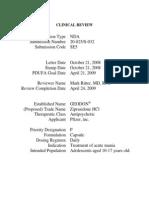 020825 Ziprasidone Clinical PREA