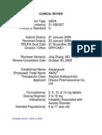 21436 Aripiprazole Clinical PREA