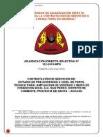 Ampliacion de Veredas y Muro de Contencion en El a.h. San Pedro, Distrito de Chimbote, Provincia Del Santa, Ancash