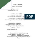 21976s009 Darunavir Clinical BPCA