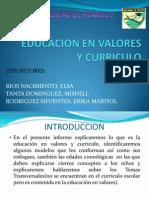 Educacion en Valores y Curriculo