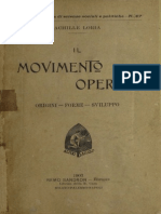 Loria (1903) Il movimento operaio origine forme sviluppo