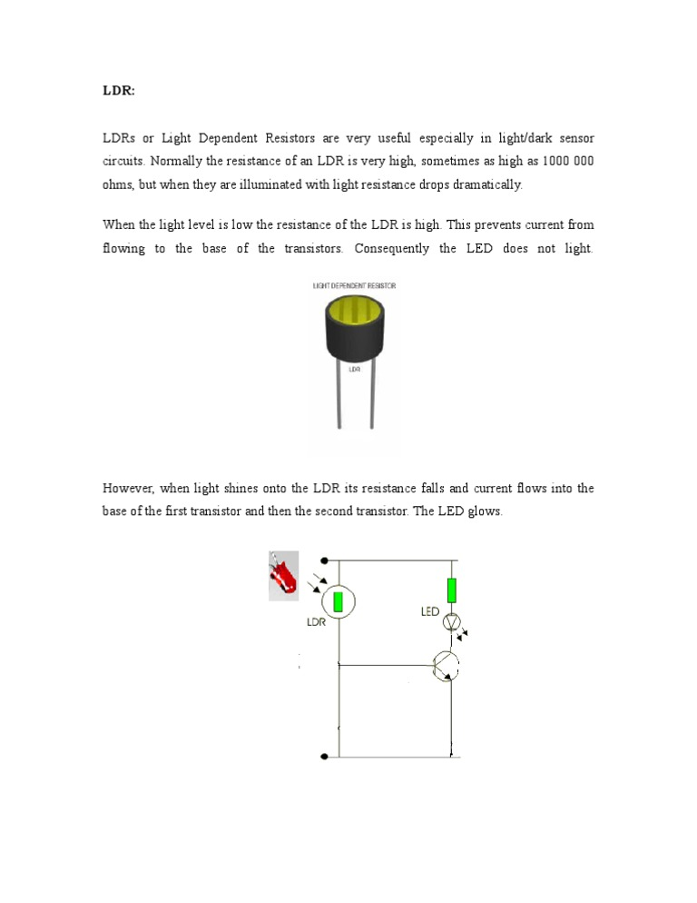 LDR: LDRs or Light Dependent Resistors Are Very Useful Especially