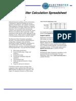 Harmonic Filter Calculation Spreadsheet