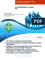 Balancing Work & Active Participation in a Library Professional Association
