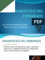 Diagnostico Del Embarazo
