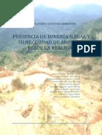 LEGISLACIÓN Y DERECHO AMBIENTAL-Presencia de Minería ilegal-Informal, abordaje desde la realidad