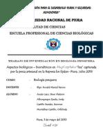 """Aspectos biológicos – biométricos en Mugil cephalus """"lisa"""". Represa los Ejidos-Piura-signed"""