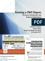 Getting a PhD degree