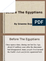Before the Egyptians