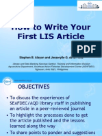 How to write your first LIS article