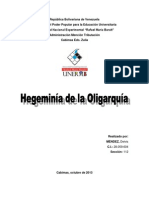 Trabajo Hegemonia de La Oligarquia