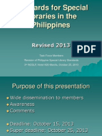 Standards for Special Libraries in the Philippines 2013
