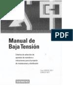 Manual Siemens de Baja Tension