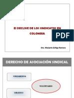 El Declive de Los Sindicatos en Colombia