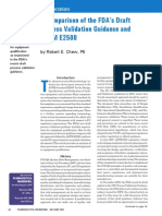 Process validation USFDA vs E2500