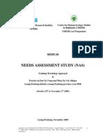 Report Needs Assessment Study Lpb Oct10 Nov 2st 2009