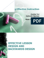 effective lesson planning and design