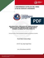 Cordova Frank Fabricacion Spools Empresa Metalmecanica Manufactura Esbelta
