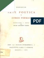 Horacio - Arte poética y otros poemas
