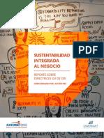Sustentabilidad Integrada al Negocio. Reporte sobre Directrices G4 de GRI
