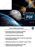 NASA Orion Crew Exploration Vehicle - July 2009 Status Report